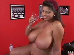 Busty Kerry Marie Strip Poker