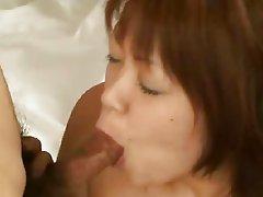 Kaede Oshiro's Japanese Bigbutt Anal & Facial Interview