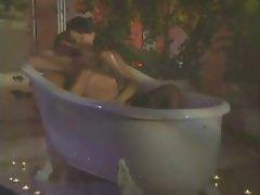 horny housewife fucking very hardly in bathtub
