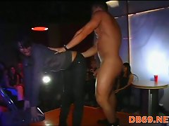 Very hot cock sucking at night party
