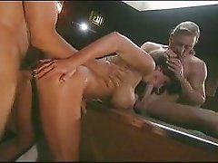 Holly Body doubleteamed on pool table