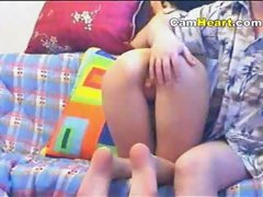 Hot sex in front of webcam