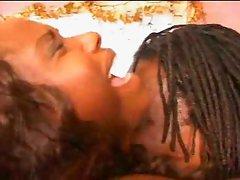 Ebony couple having fun