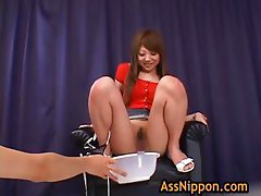 Ana Oshirino in horny Asian threesome part1