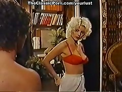 Lustful porn actress Seka, Bobby Astyr in sex in the office scene from classics porn