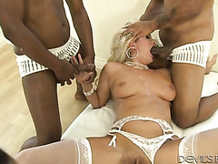 Layla Price gets satisfaction from pleasing several men at once