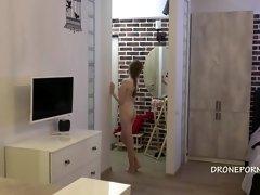 Czech Skinny teen flashing