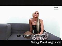 Casting Beautiful blonde babe