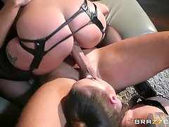 Wild and horny Karmen Karma adores BDSM and all sexy lesbian games