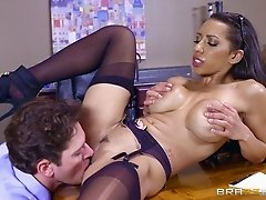 Hot Indian chick is happy to get banged in the middle of the office