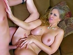 Greedy mom can't get enough of son's huge penis