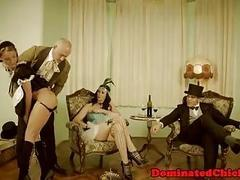 Submissive euro MILF dicked hard and fast by master BDSM