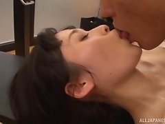 All of Mizuho's sessions at the gym end up with the pussy drilling