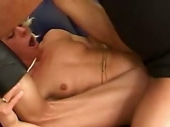 Tiny mature blondie gets gangbanged by feverish dudes rough