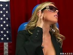 Gorgeous Blonde Sucking The Senator's Big Cock