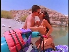 Latina Brunette In Glasses Enjoys Beach Sex Hardcore
