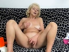 Grandma Loves Masturbation Play
