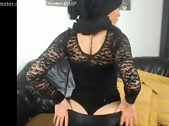 Islamic girls from the middle east in the dance fetish leather