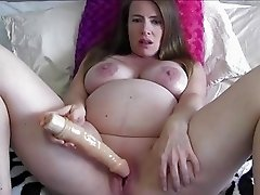 Son Makes Pregnant Mom Masturbate For HIm
