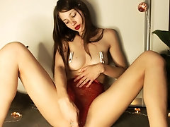 Girl with Puffy Nipples Free Amateur Porn XXX Masturbation