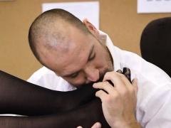 Secretary Lennox Luxe Gets Caught Masturbating