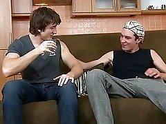 Homo is engulfing dudes long shaft hungrily