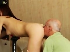 Old man huge dick Every lump on the right place...