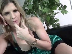 Passionate blonde blows dick