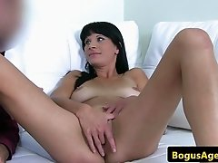 Real casting amateur cocksucking until cum