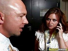 Curvy and horny redhead bitch gets fucked so wild