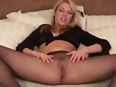 Dirty Woman Wearing Pantyhose