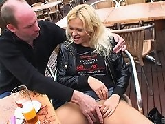 Public flashing and fucking makes this blonde girl wild with desire