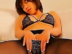 Cute Asian In Pantyhose Softcore Teasing