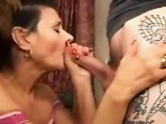 Nasty Granny Giving A Great Blowjob
