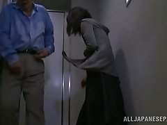 Fabulous mature amateur Asian gets fucked doggy style in the office