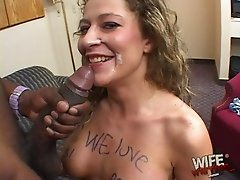 Nice ass doll blasted with black cock till getting facial cumshot