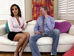 Rough FFM threesome with Latina babes Francesca Le and Emily Willis