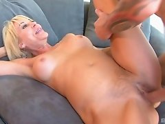 Bombastic blonde MILF and yet another anal treatment for her