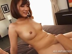 Sexy Asian babe gets her pussy fingered and fucked by horny lover