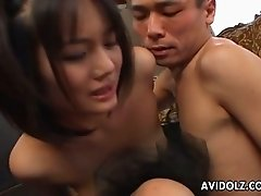 When this Asian chick get on top, her hubby is like mesmerized by her beauty