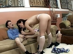 Intense one on one action with Kristina Rose and an older dude