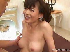 Captivating Asian cougar with nice ass moaning while being smashed hardcore in reality shoot
