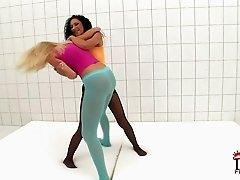 Chrystine and Sierra in the catfight video