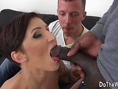 Horny wife Gabrielle Gucci love big black dick in her ass