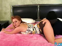 Hot PAWG seduces a home burglar and makes him eat her ass first