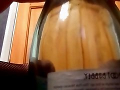 Kinky Horny Wife Fucking A Wine Bottle