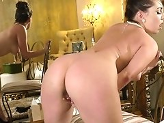 Brunette sweetie Jenna Sativa likes to finger her hairy pusy