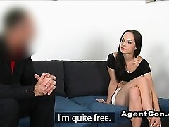 Slim Euro student fucks for cash