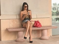 Pretty Shazia Masturbates Outdoors In A Public Place