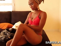 Horny amateur African girl blowjob cum in mouth